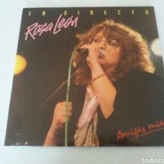 Discos de vinilo: ROSA LEÓN, AMIGAS MÍAS, EN DIRECTO. VINILO DOBLE LP. FONOMUSIC 1986. Lote 95946071
