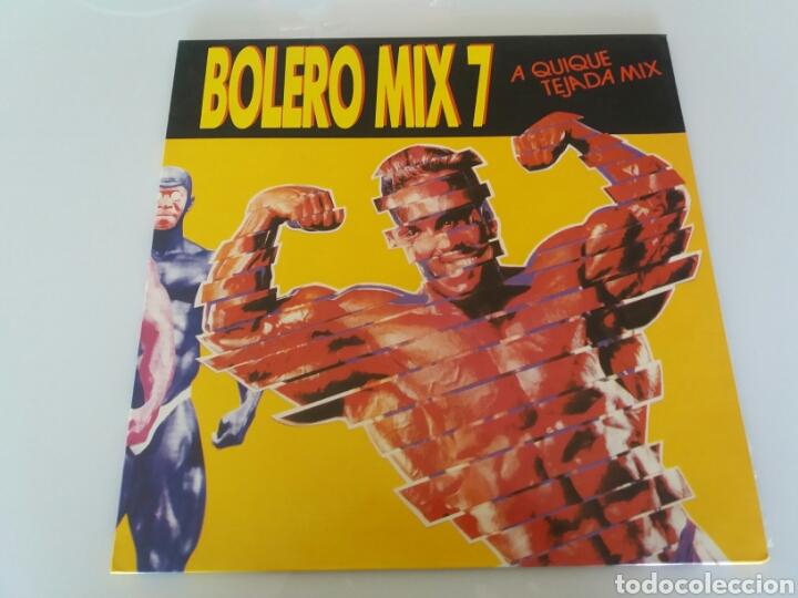 BOLERO MIX 7, A QUIQUE TEJADA MIX. VINILO LP. BLANCO Y NEGRO MUSIC. MXLP-258. 1990 (Música - Discos - LP Vinilo - Disco y Dance)