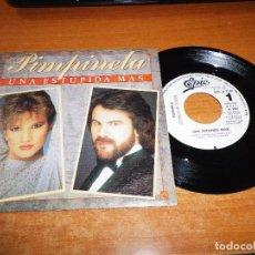 Discos de vinilo: PIMPINELA UNA ESTUPIDA MAS SINGLE VINILO PROMO ESPAÑA 1985 1 TEMA JOAQUIN GALAN LUCIA GALAN. Lote 95948459