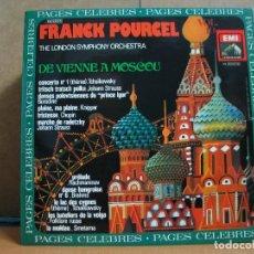 Discos de vinilo: FRANCK POURCEL AND THE LONDON SYMPHONY ORCHESTRA ?– DE VIENNE À MOSCOU - 1981. Lote 95949147