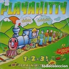 Discos de vinilo: PLAYAHITTY– 1-2-3! (TRAIN WITH ME) MAXI-SINGLE BLANCO Y NEGRO 1995. Lote 95951855