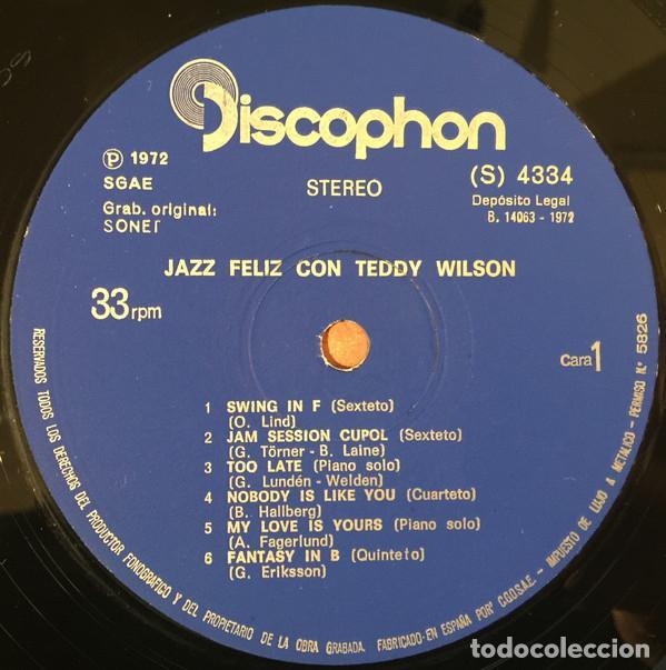 Discos de vinilo: TEDDY WILSON * LP * JAZZ FELIZ CON TEDDY WILSON * DISCOPHON * 1972 - Foto 2 - 26334431