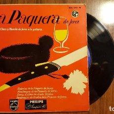 Discos de vinilo: LA PAQUERA DE JEREZ , CON MORAITO CHICO Y MORAITO DE JEREZ A LA GUITARRA . Lote 95958703