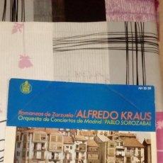 Discos de vinilo: BAL-9 DISCO GRANDE 12 PULGADAS ALFREDO KRAUS PABLO ZOROZABAL . Lote 95963931