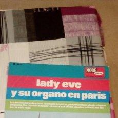 Discos de vinilo: BAL-9 DISCO GRANDE 12 PULGADAS LADY EVE Y SU ORGANO EN PARIS. Lote 95963995
