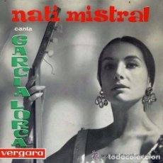 Discos de vinilo: NATI MISTRAL CANTA GARCIA LORCA EP VERGARA ESPAÑA 1962. Lote 95964631