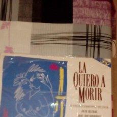 Discos de vinilo: BAL-9 DISCO GRANDE 12 PULGADAS LA QUIERO A MORIR VARIOS ARTISTAS ESPAÑOLES 2 LP. Lote 95964735