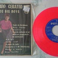 Discos de vinilo: RICARDO CERATTO Y LOS BIG BOYS: TWIST DE BENIDORM + 10 (PHILIPS 1962). Lote 95979427