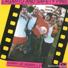 Discos de vinilo: LAGARTO AND SAFETY PINS HURRY UP HURRY (SINGLE) . PUNK ROCK THE PLEASURE FUCKERS. Lote 96006487