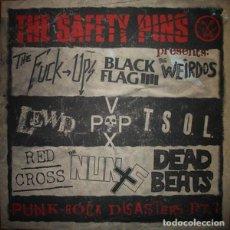 Discos de vinilo: SAFETY PINS PUNK ROCK DISASTERS (10 PULGADAS) . WEIRDOS LEWD THE NUNS RED CROSS BLACK FLAG. Lote 96017039