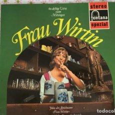 Discos de vinilo: LP FRAU WIRTIN-60 DEFTIGE VERSE ZUM MITSINGEN. Lote 96030271