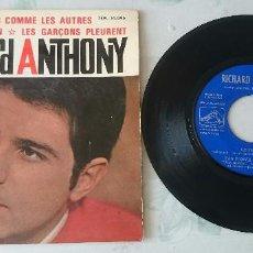 Discos de vinilo: RICHARD ANTHONY: CE MONDE + 3 (LA VOZ DE SU AMO 1964). Lote 96051799