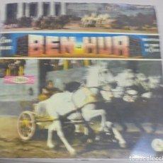 Discos de vinilo: LP. BEN-HUR. LEWIS WALLACE. UNA HISTORIA DEL TIEMPO DE CRISTO. Lote 96055899