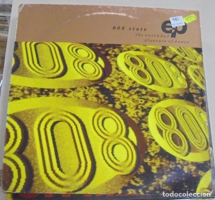 LP. 808 STATE. THE EXTENDED PLEAUSURE OF DANCE. 1990 (Música - Discos - LP Vinilo - Disco y Dance)