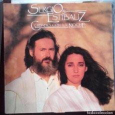 Discos de vinilo: LP SERGIO Y ESTIBALIZ CUIDADO CON LA NOCHE. Lote 147208818