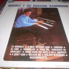 Discos de vinilo: LP - RUDOLF Y SU ORGANO HAMMOND. Lote 96070495