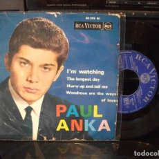 Discos de vinilo: PAUL ANKA I´M WATCHING + 3 EP FRANCIA 1963 PDELUXE . Lote 96072679
