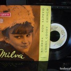 Discos de vinilo: MILVA RICORDA + 3 EP SPAIN 1963 PDELUXE. Lote 96074195