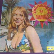 Discos de vinilo: VACACIONES EN CANARIAS LP MARFER - VERSIONES DE ESTUDIO DE CLASICOS 70'S - SEXY COVER. Lote 96077399