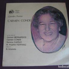 Discos de vinilo: GRANDES POETAS - CARMEN CONDE LP FIDIAS 1968 - VERSOS Y COPLAS - CARMEN BERNARDOS - GEMMA CUERVO - . Lote 96078439