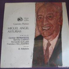 Discos de vinilo: GRANDES POETAS - MIGUEL ANGEL ASTURIAS LP FIDIAS 1970 - VERSOS Y COPLAS - PACO VALLADARES - GUILLEN . Lote 96078643
