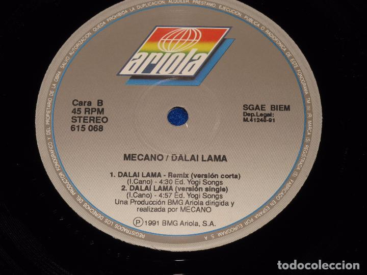 Discos de vinilo: MECANO - DALAI LAMA - REMIX VERSION - MAXISINGLE 1991 - COMPLETO CON POSTER GIGANTE - COMO NUEVO - Foto 4 - 194505200