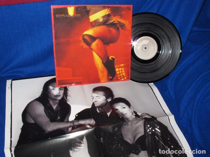Discos de vinilo: MECANO - DALAI LAMA - REMIX VERSION - MAXISINGLE 1991 - COMPLETO CON POSTER GIGANTE - COMO NUEVO - Foto 5 - 194505200