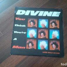 Discos de vinilo: DIVINE-YOU THINK YOU'RE A MAN.MAXI ESPAÑA. Lote 96081475