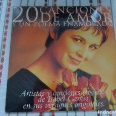 Discos de vinilo: 20 CANCIONES DE AMOR Y UN POEMA ENAMORADO. Lote 96097739
