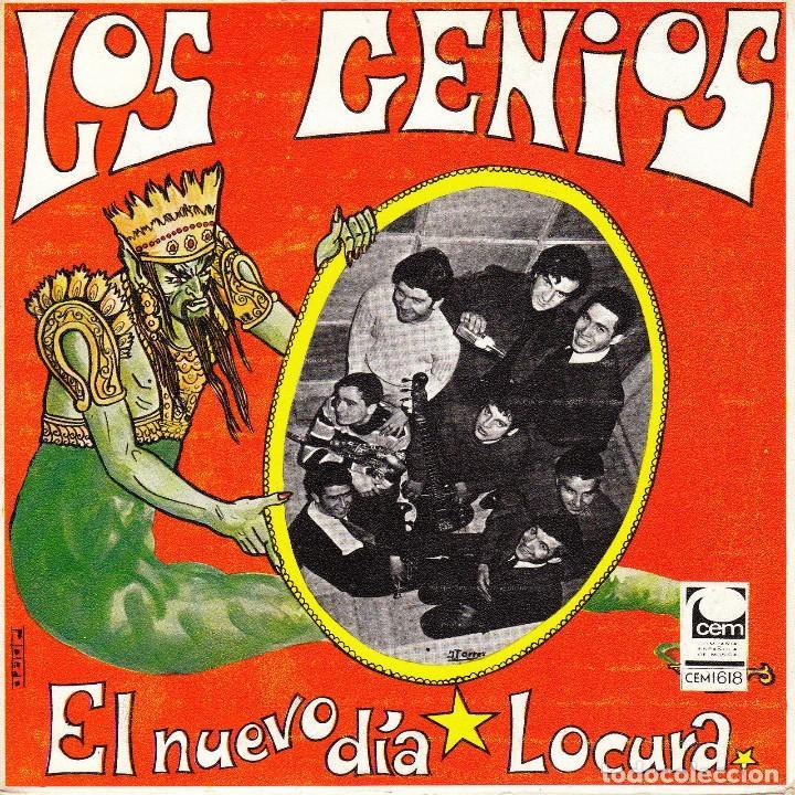 SINGLE LOS GENIOS EL NUEVO DIA / LOCURA 45 SPANISH RARE CEM 1969 SOUL MOD (Música - Discos - Singles Vinilo - Grupos Españoles 50 y 60)