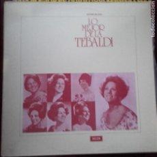 Discos de vinilo: LO MEJOR DE LA TEBALDI. Lote 96072287