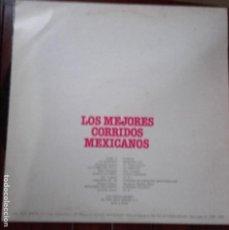 Discos de vinilo: LP MIGUEL ACEVES MEJIA LOS MEJORES CORRIDOS MEXICANOS. Lote 96072947