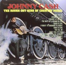 Discos de vinilo: JOHNNY CASH * LP 140G. VIRGIN VINYL + CD * THE ROUGH CUT KING OF COUNTRY MUSIC * PRECINTADO!!. Lote 139917905