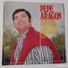 Discos de vinilo: PEPE ARAGON - TE HE VISTO EN LA PLAYA. Lote 96113679