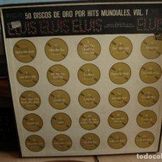Discos de vinilo: 50 DISCOS DE ORO POR HIST MUNDIALES, VOL. - ELVIS - CUATRO DISCOS CON ALBUM DE FOTOS. Lote 96183539
