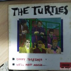Discos de vinilo: SINGLE THE TURTLES PORTADA ARTESANAL Y ARTISTICA. Lote 96187175