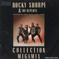 Discos de vinilo: ROCKY SHARPE & THE REPLAYS - COLLECTION MEGAMIX / WHITE CHRISTMAS - SINGLE DE 1990 RF-3063. Lote 96204503
