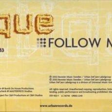 Discos de vinilo: ANTIQUE - FOLLOW ME - MAXI-SINGLE GERMANY 2002. Lote 96204523