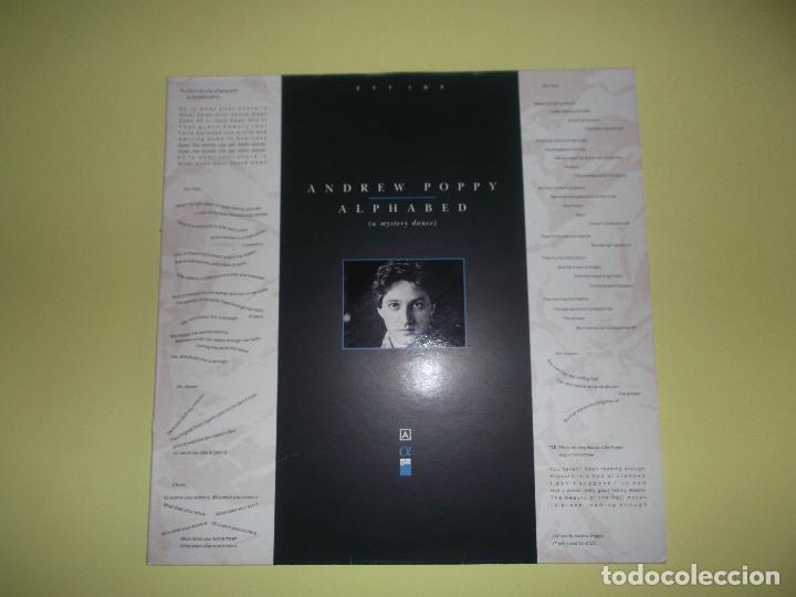 ANDREW POPPY ALPHABED 1987 (Música - Discos - LP Vinilo - Electrónica, Avantgarde y Experimental)