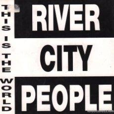 Discos de vinilo: RIVER CITY PEOPLE - THIS IS THE WORLD - SINGLE PROMO DE 1992 RF 3075 . Lote 96218159