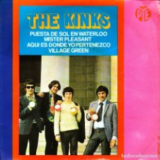 Discos de vinilo: EP THE KINKS PUESTA DE SOL EN WATERLOO (SUNSET) 45 SPANISH 1967 VILLAGE GREEN. Lote 96247923