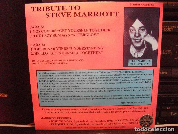 Discos de vinilo: STEVE MARRIOT TRIBUTE AFTERGLOWN + 3 EP SPAIN 1995 PDELUXE - Foto 2 - 96257187