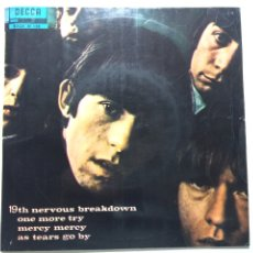 Discos de vinilo: THE ROLLING STONES 19TH NERVOUS BREAKDOWN ONE MORE TRY MERCY MERCY AS TEARS HOY BY. Lote 96269052