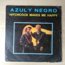 Discos de vinilo: AZUL Y NEGRO - HITCHCOCK MAKES ME HAPPY / AGUA DE LUNA SPAIN 7SINGLE 1984. Lote 96289483