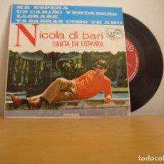 Discos de vinilo: EP VINILO - NICOLA DI BARI - CANTA EN ESPAÑOL - 1966 - ZAFIRO - Z-E 711. Lote 96305039