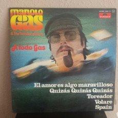 Discos de vinilo: MANOLO GAS & THE TINTO BANG BANG. Lote 96355231