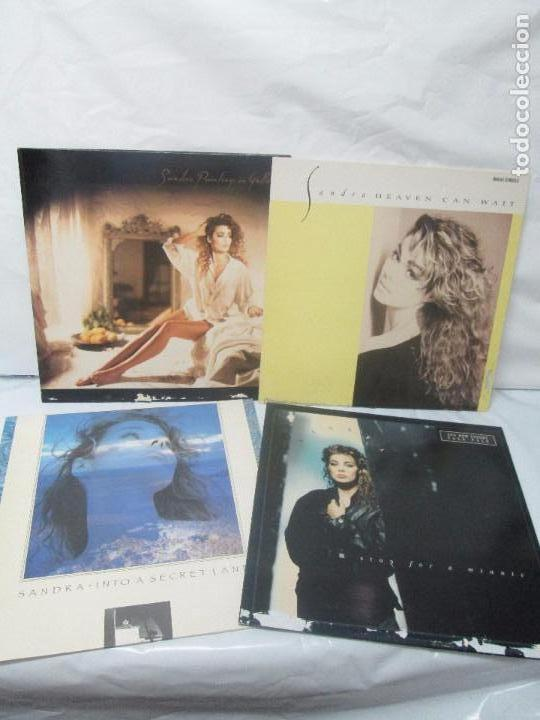 SANDRA: STOP FOR A MINUTE. INTO A SECRET LAND. PAINTINGS IN YELOW. HEAVEN CAN WAIT. 4 LP VINILO (Música - Discos - Singles Vinilo - Disco y Dance)