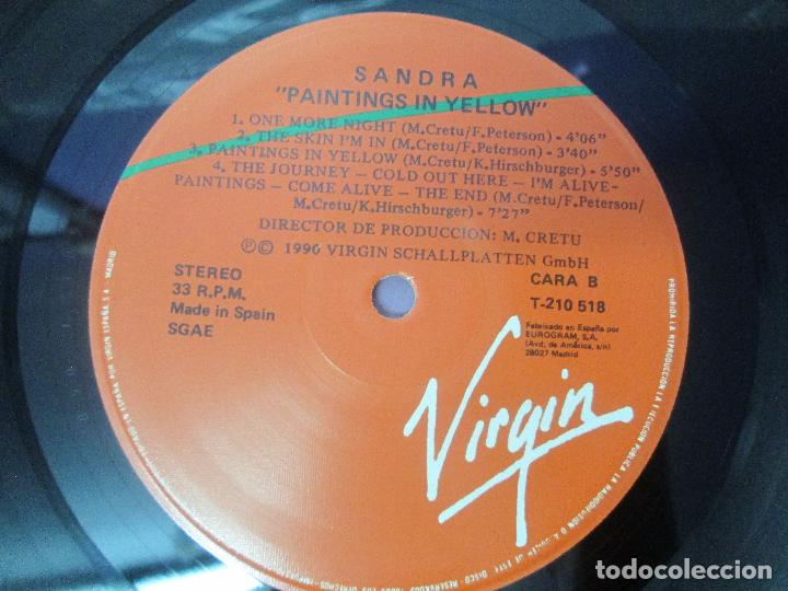 Discos de vinilo: SANDRA: STOP FOR A MINUTE. INTO A SECRET LAND. PAINTINGS IN YELOW. HEAVEN CAN WAIT. 4 LP VINILO - Foto 12 - 96383531
