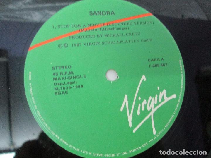 Discos de vinilo: SANDRA: STOP FOR A MINUTE. INTO A SECRET LAND. PAINTINGS IN YELOW. HEAVEN CAN WAIT. 4 LP VINILO - Foto 16 - 96383531