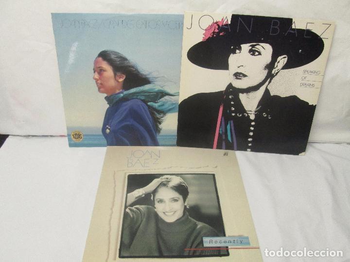 JOAN BAEZ. RECENTLY. SPEAKING OF DREAMS. GRANDES EXITOS Y OTROS. 3 LP VINILO. VER FOTOS (Música - Discos - Singles Vinilo - Country y Folk)